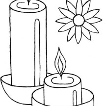 Light the Candles to Celebrate Diwali Coloring Page