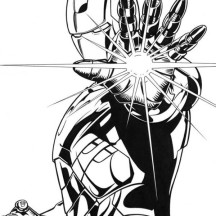 Lighting Palm of Iron Man Coloring Page
