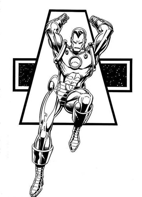 Marvel Heroes Iron Man Coloring