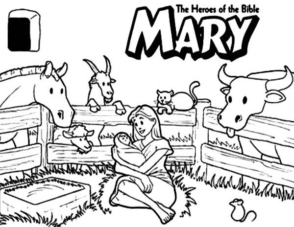 Mary The Bible Heroes Coloring Page