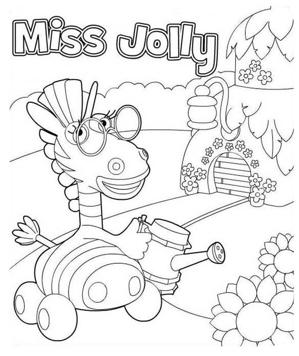 Miss Jolly from Jungle Junction Coloring Page