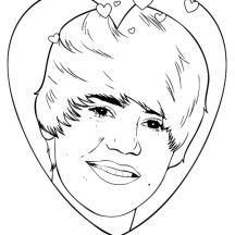 Music Celebrity Justin Bieber Coloring Page