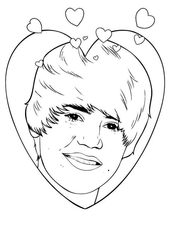 Music Celebrity Justin Bieber Coloring