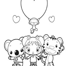 Ni Hao Kai Lan and Friends Coloring Page