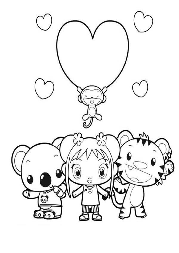 Ni Hao Kai Lan and Friends Coloring Page