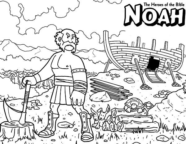 Noah The Bible Heroes Coloring Page - NetArt