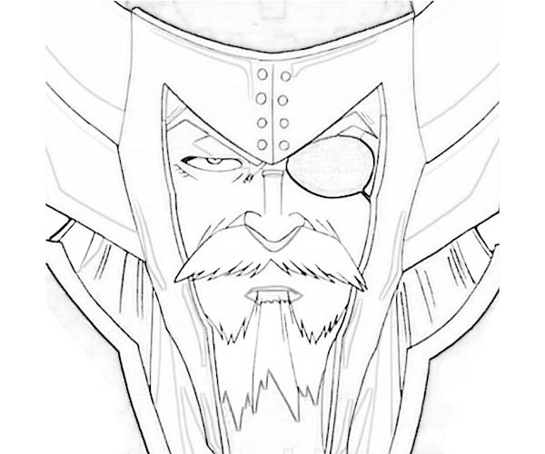 One Eyed Hades Coloring Page