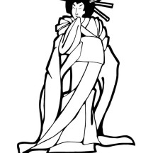 Picture of Geisha Coloring Page
