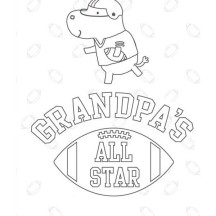 Picture of Gran Parents Day Greeting Card Coloring Page