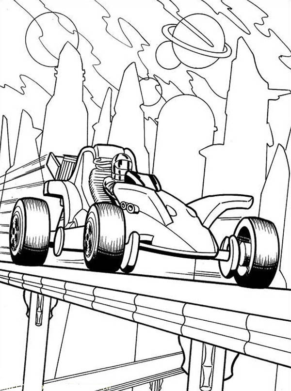 Picture of Hot Wheels Coloring Page
