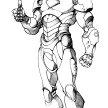 Picture of Iron Man Coloring Page