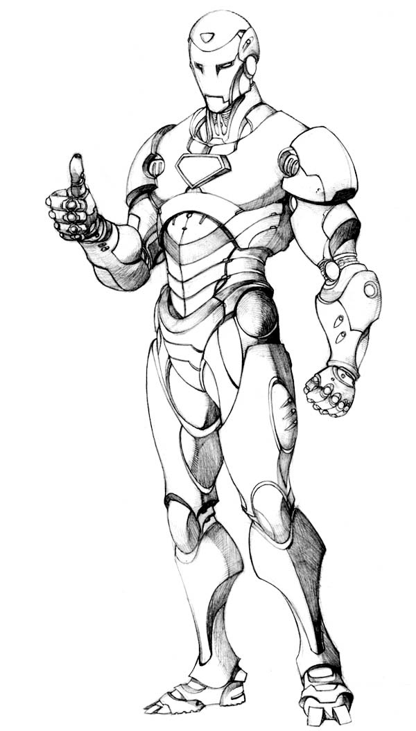 Picture Of Iron Man Coloring Page Netart
