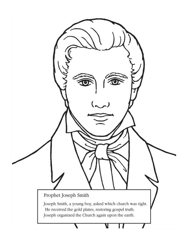 Prophet Joseph Smith Coloring Page
