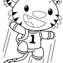 Rintoo Jump so High in Ni Hao Kai Lan Coloring Page
