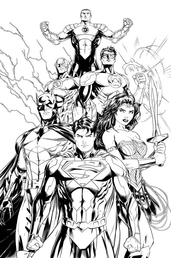 Silver Age of the Justice League of America Coloring Page