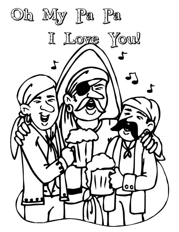Singing Together in Gran Parents Day Coloring Page