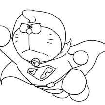 Super Doraemon Coloring Pages
