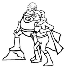 Super Grandparents in Gran Parents Day Coloring Page
