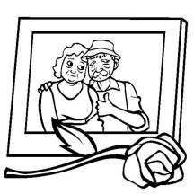 Sweet Memory in Picture in Gran Parents Day Coloring Page