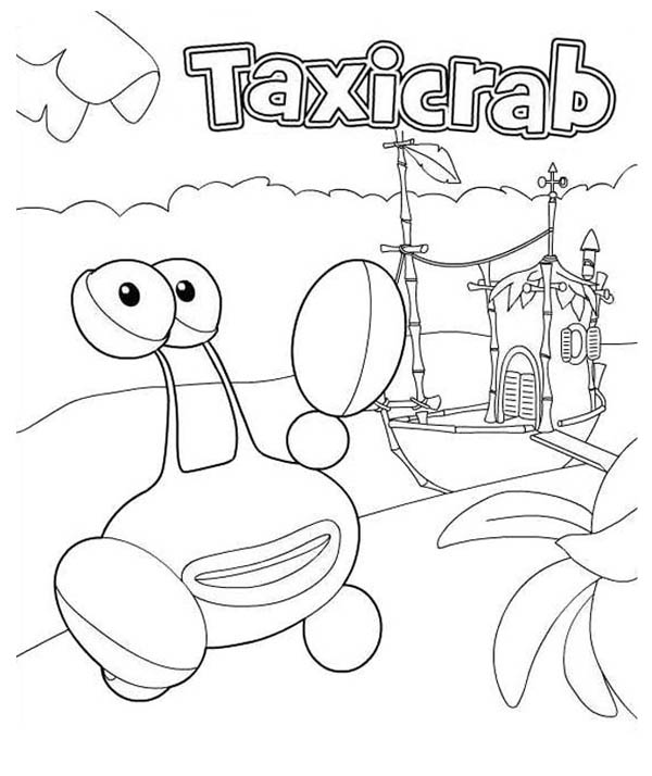 Taxicrab from Jungle Junction Coloring Page