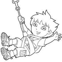 The Adventure of Diego in Go Diego Go Coloring Page