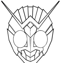 The Awesome Masked Rider Kamen Rider Coloring Page