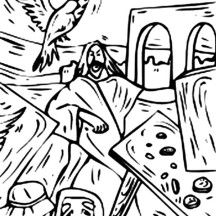 The Bible Heroes Jesus Christ Coloring Page