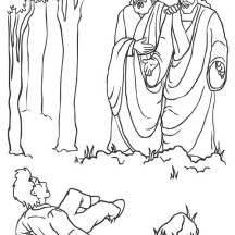 The Day Joseph Smith Met God Father and Jesus Christ Coloring Page