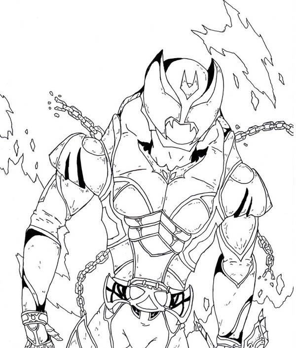 The Great Kamen Kiva Rider Coloring Page