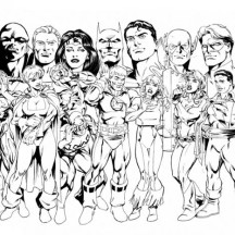 The Member of Justice League Coloring Page