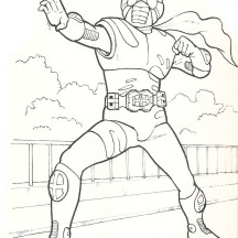 The Rider Action Kamen Rider Coloring Page