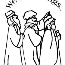 Three King in the Bible Heroes Coloring Page