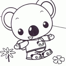 Tolee Wander Around in Ni Hao Kai Lan Coloring Page