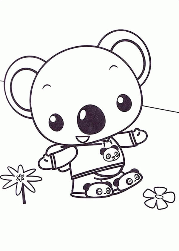 Tolee Wander Around In Ni Hao Kai Lan Coloring Page Netart