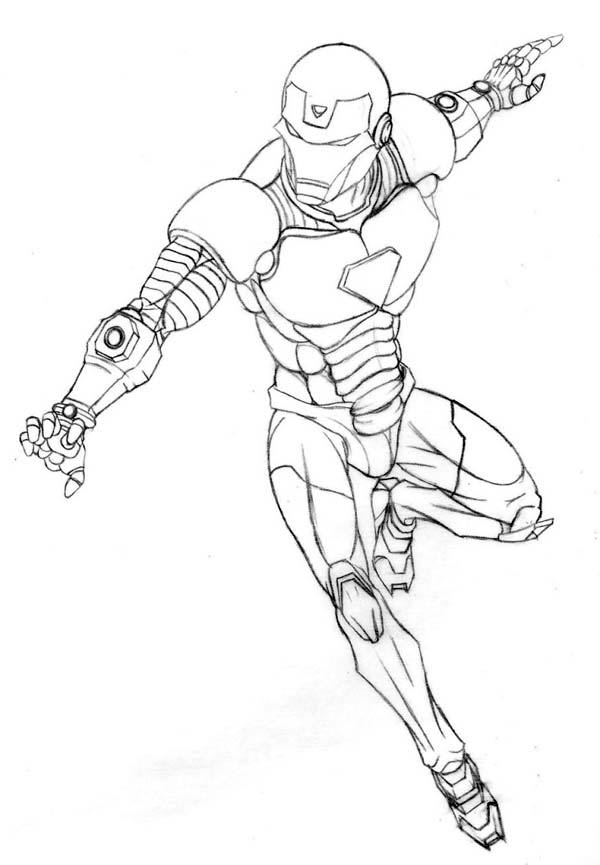 Tony Stark is Iron Man Coloring Page