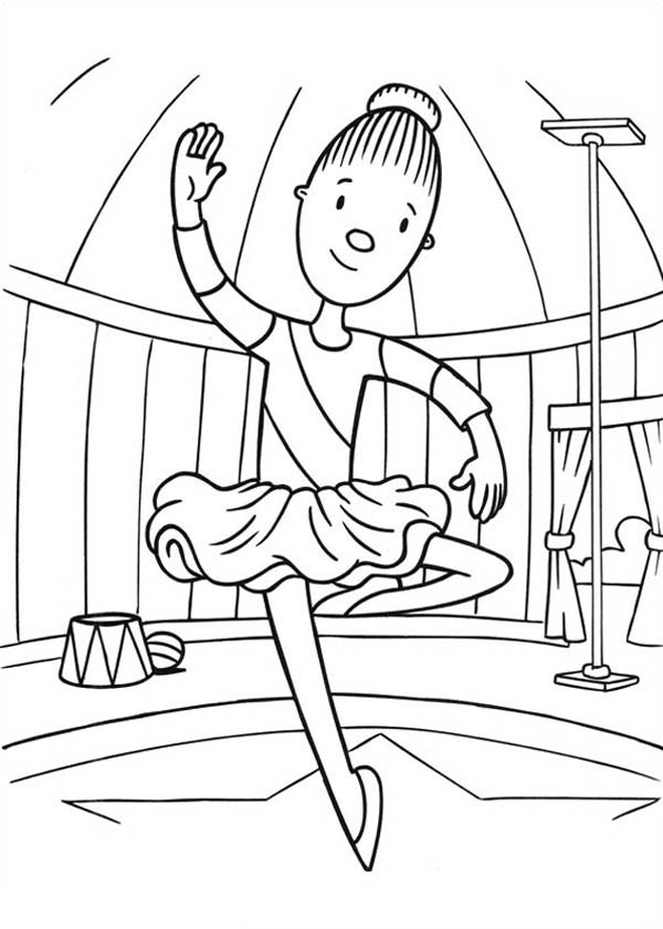 clown party circus coloring pages - photo#49