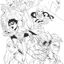 Young Justice League Picture Coloring Page