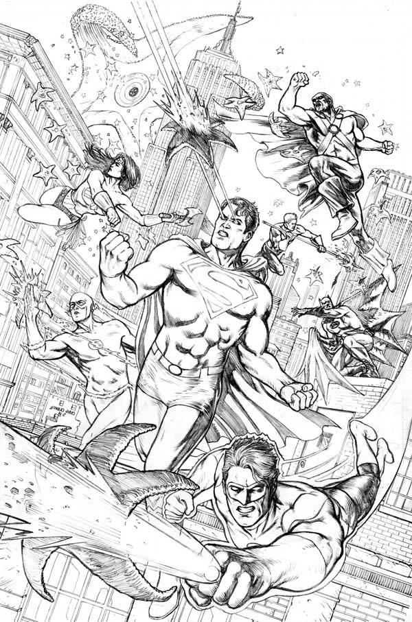 Justice League versus Starro Coloring Page