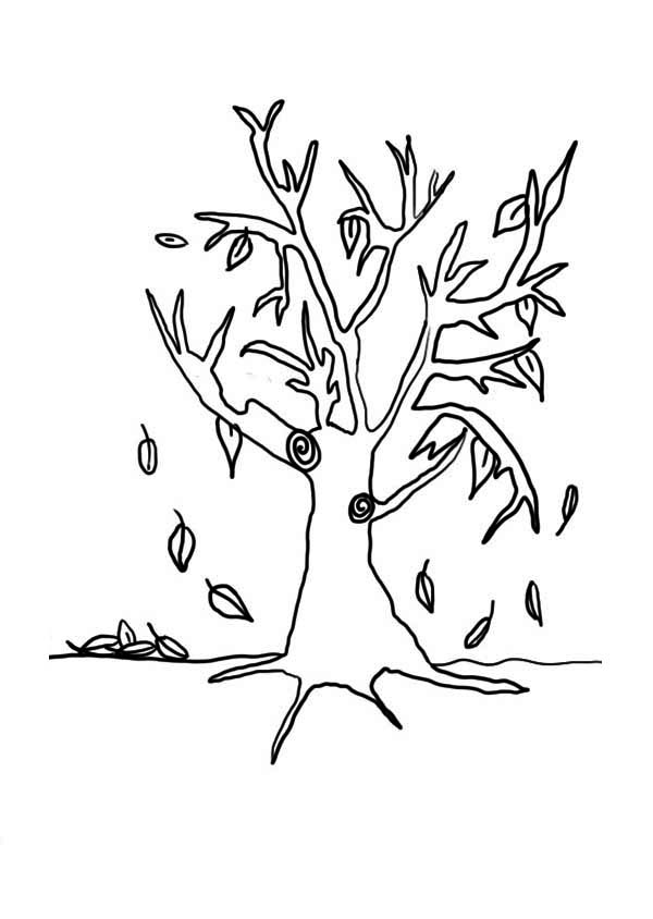 Autumning Leaves in Autumn Leaf Coloring Page
