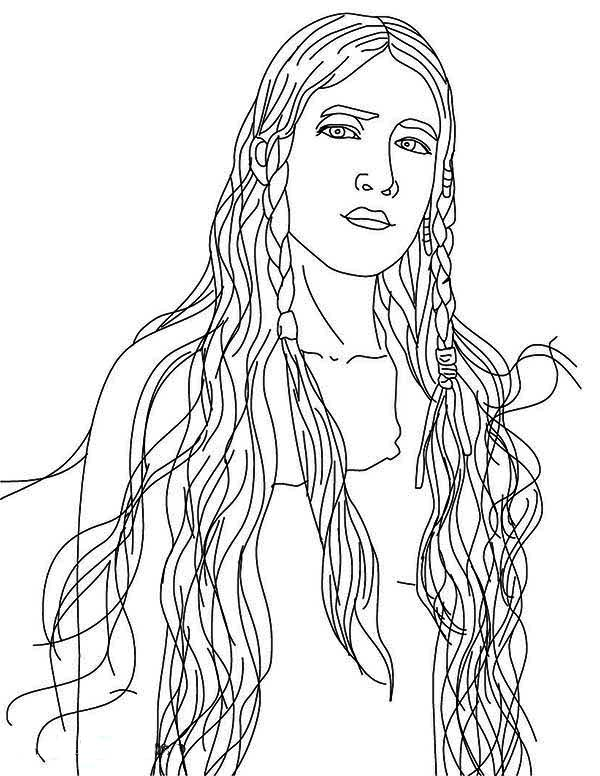 - Beautiful Native American Girl On Native American Day Coloring Page - NetArt