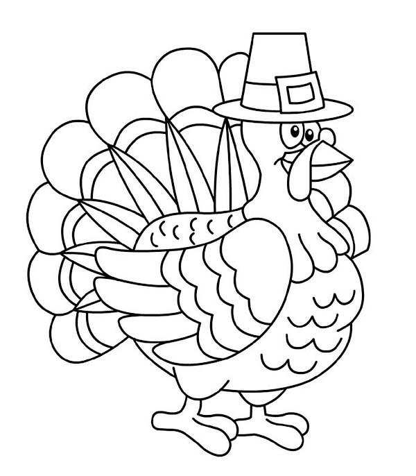 Canada Thanksgiving Day Turkey Trot Chicago Coloring Page