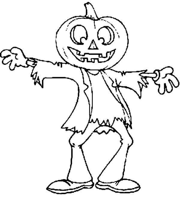 Halloween Scarecrow | Coloring Pages 24 | 658x600