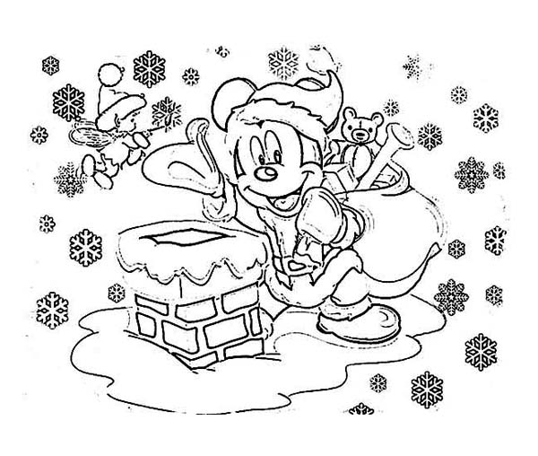 Coloring Pages : 43 Mickey Mouse Christmas Coloring Pictures ... | 508x600