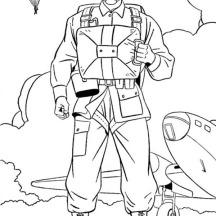 US Paratroopers Celebrating Veterans Day Coloring Page