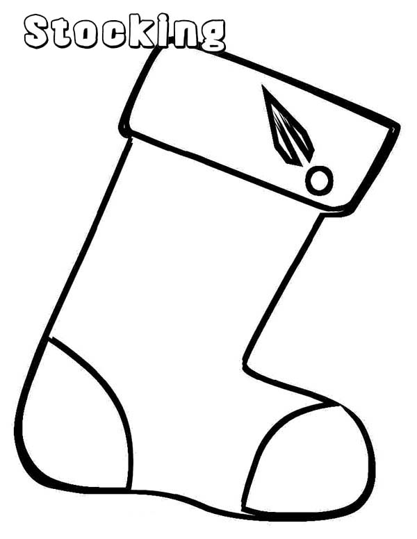 Christmas Stockings Coloring Pages for Kids