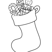 How to Draw Christmas Stockings Coloring Pages