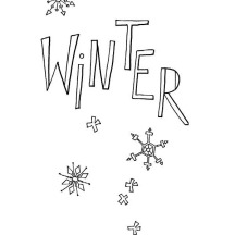 Happy Winter Season Everyone Coloring Page