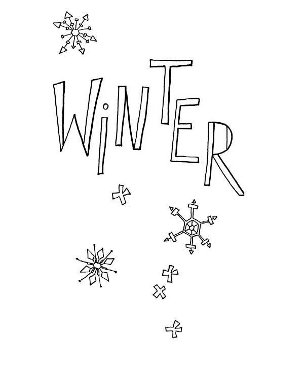 Happy Winter Season Everyone Coloring Page
