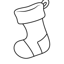 Picture of Christmas Stockings Coloring Pages