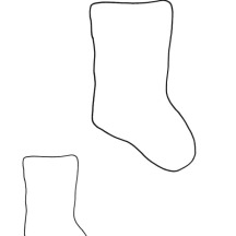 Kids Drawing Christmas Stockings Coloring Pages